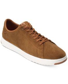 Cole Haan Men's Grandpro Suede Tennis Sneakers - Brown 11.5