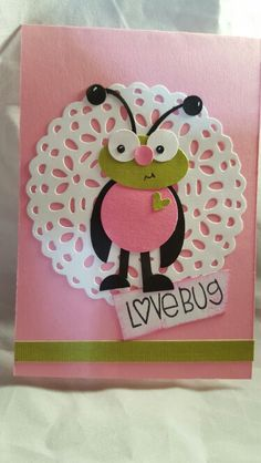 Stampin up...Love bug punch out..using several punches