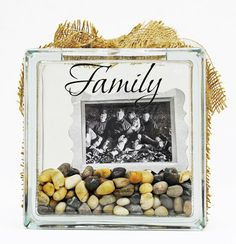 Glass Block Project: Family