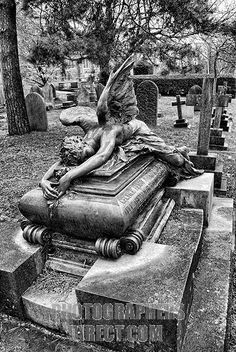 Angel Weeping over Grave