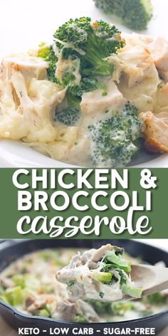 This easy keto casserol takes only 25 minutes to make and the whole family loves it. Creamy and cheesy, and full of great flavor. A perfect low carb weeknight meal. Keto Dinner Recipes for Rapid Weight Loss Yummy Chicken Recipes, Healthy Dinner Recipes, Healthy Soup, Lunch Recipes, Eating Healthy, Healthy Broccoli Salad, Healthy Lunches, Good Healthy Meals, Low Calorie Chicken Recipes