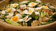 Eén - Dagelijkse kost - Groene salade met gerookte forel