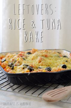 leftover rice and tuna bake