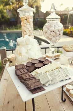 Need a s'mores bar and huge fire for ending the night at my wedding Fall Wedding, Rustic Wedding, Our Wedding, Dream Wedding, Handmade Wedding, Wedding Vintage, Wedding Menu, Catering Buffet, Cake Pops
