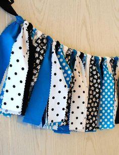 Alice in Wonderland Fabric Tie Garland