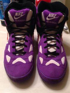 75b3d4cc327 RARE Purple Nike Air Reversal Wrestling Shoes Asics Adidas Rulon Kolat