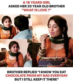 Brother sister quotes funny - Love you bhai Brother Sister Love Quotes, Brother And Sister Relationship, Sister Quotes Funny, Funny Quotes, Funny Memes, Sad Sayings, Qoutes, Apj Quotes, Funny Sister