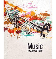 Retro splatter music background vector