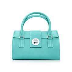 Manhattan satchel in Tiffany Blue® grain leather, small. More colors available. $995 Tiffany & Co.