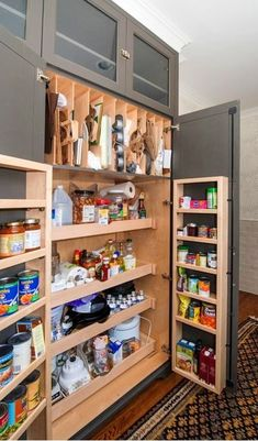 #homedecor #kitchenideas #inspiration |Photo of a transitional kitchen pantry in Chicago with gray cabinets. — Houzz