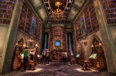 The Beast's Library at Disneyland  #books #library #libri #biblioteca #livres #bibliotheque - More wonders at www.francescocatalano.it