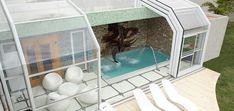 Steven Piscinas - Piscinas Backyard Pool Landscaping, Small Backyard Pools, Outdoor Pool, Outdoor Decor, Sauna, Pool Houses, Water Features, Future House, Swimming Pools
