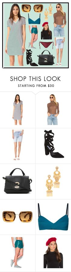 """Cool Style At Hot Summer"" by cate-jennifer ❤ liked on Polyvore featuring T By Alexander Wang, Free People, Joe's Jeans, Steve Madden, Zanellato, Elizabeth Cole, Miu Miu, Malia Mills, Under Armour and Brixton"