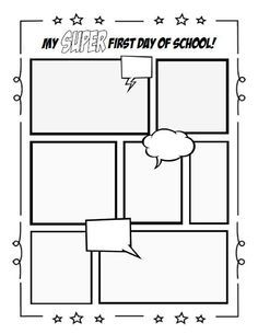 Comic Book Template  School Super Hero Theme And Teacher
