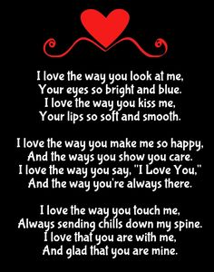 Why I Love You Poems
