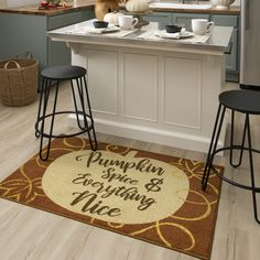 As sweet as pumpkin spice and everything nice, celebrate fall and all its festive flavors and treasured traditions with the Pumpkin Spice Mat in Orange. #fall #falldecor #doormat #pumpkinspice #kitchendecor #coffee #lowes #homedecor #pumpkins #autumn #homedecor #arearugs #mohawkhome #mohawk #plaid Fall Home Decor, Autumn Home, Kitchen Decor, Porch Decorating, Recycle Plastic Bottles, Rugs, Diy Decor, Mohawk Home, Area Rugs