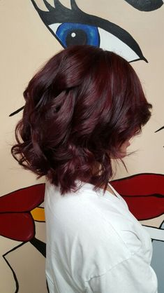 Red and brunette balayage