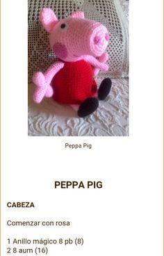 Los Amigus de Paloma: Peppa Pig Amigurumi (Patrón Gratis) Peppa Pig Crochet, Peppa Pig Amigurumi, Amigurumi Toys, Pepps Pig, Crochet Animals, Crochet Toys, Weaving Patterns, Patron Crochet, Bebe