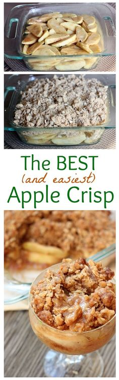 Recipes: Thinly sliced Granny Smith apples baked with a cinnamon glaze and oatmeal crumb topping. The BEST Apple Crisp recipe Ever!