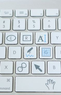 Free set of Silhouette Studio keyboard shortcut vinyl decals for your keyboard. Silhouette School Blog, Silhouette Cameo Vinyl, Silhouette Design Studio, Silhouette Cameo Tutorials, Silhouette Cutter, Silhouette Curio, Silhouette Machine, Silhouette Projects, Free Silhouette Files