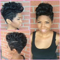 Love her hair! My Hairstyle, Cute Hairstyles For Short Hair, Short Hair Cuts, Curly Hair Styles, Natural Hair Styles, Pixie Cuts, Short Pixie, Love Hair, Great Hair