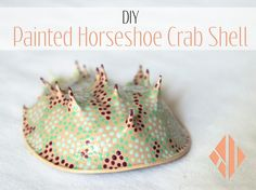Craft addict, glitter enthusiast, and up-cycler brings you behind the scenes of her Etsy shop, Kiki Lee's Craft Boutique. Crab Painting, Diy Painting, Beach Crafts, Diy Crafts, Crab Art, Crab Shells, Horseshoe Crab, Coastal Wall Art, Shell Crafts