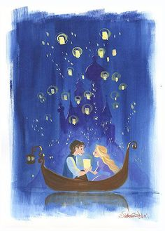 Tangled By the Light of Lanterns Rapunzel Victoria Ying LE 95 Paper Signed NEW Giclee Disney Disney Rapunzel, Disney Pixar, Walt Disney, Animation Disney, Disney Couples, Cute Disney, Disney And Dreamworks, Disney Magic, Tangled Rapunzel