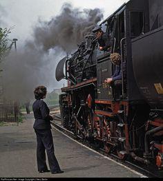 52 8003 Deutsche Reichsbahn Steam 2-10-0 at Berga Kelbra, Germany by J Neu, Berlin
