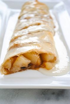 Perfect Pear Strudel - A special yet simple weekend breakfast, with a sweet vanilla glaze.