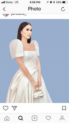Modern Filipiniana Gown, Filipiniana Wedding, Dress Outfits, Prom Dresses, Formal Dresses, Heart Evangelista Style, Dress Making Patterns, Women's Fashion, Fashion Outfits