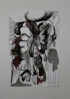 drawing 2011  2m x 1m  dripping women series