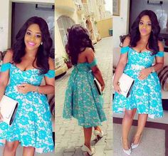 Short Off-shoulder Blue Lace Ruched Hi-lo Satin Chic Cocktail Dress,Homecoming Dress uk African Dresses For Women, African Attire, African Fashion Dresses, African Wear, African Women, Ghanaian Fashion, Nigerian Fashion, Ankara Fashion, African Girl