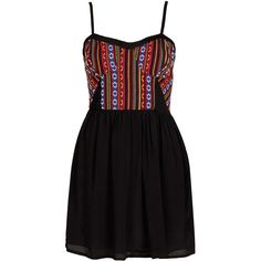 TOPSHOP Mexican Bodice Sundress ($72) ❤ liked on Polyvore