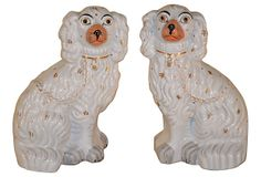 One Kings Lane - Manor Born - 19th-C. Staffordshire Spaniels, Pair---- I so want these for my mantle
