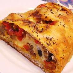 Italian Sausage Appetizer Bread Allrecipes.com #JvilleKitchens #AllstarsJville
