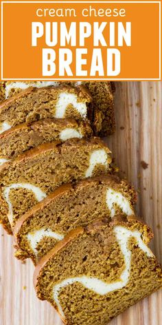 Cut into this pumpkin bread to reveal the wonderful cream cheese filling! This Cream Cheese Pumpkin Bread Recipe is the perfect loaf for fall baking. recipes Easy Cream Cheese Pumpkin Bread Recipe - Taste and Tell Pumpkin Loaf, Cheese Pumpkin, Pumpkin Cream Cheeses, Easy Pumpkin Bread, Easy Bread, Pumpkin Cream Cheese Muffins, Recipe For Pumpkin Bread, Pumpkin Cheesecake Muffins, Pumpkin Banana Bread