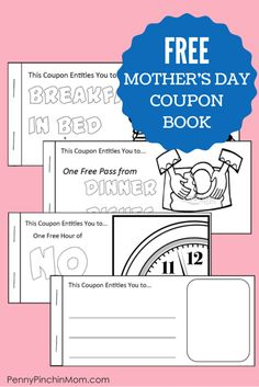 Ask any mom and she would say that the best  Mother's Day Gift is the one from their kids' heart.  Download this FREE Mother's Day Coupon booklet that your kids can color, cut and assemble.  They can even add in their OWN personalized coupon idea!!!