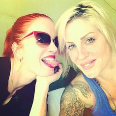 Shirley Manson and Brody Dalle