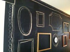 Chalkboard wall frames