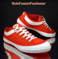 63ac9d1812a8ae adidas Originals Mens Nizza Low Shoes sz 11 Orange Trainers Remo Plimsolls  EU 46