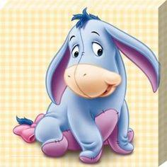Baby Eeyore, Winnie The Pooh Canvas Print Winnie The Pooh Drawing, Cute Winnie The Pooh, Winnie The Pooh Quotes, Toile Disney, Eeyore Tattoo, Pooh Bebe, Eeyore Pictures, Baby Disney Characters, Disney Babys