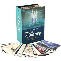 "Celebrating the beauty of Disney Studio's ""Golden Age of Animation"" (1937-1961), this spectacular collection of 100 postcards is a treasure trove of final frames and concept art from the most beloved films of our childhood--some published here for the first time!  Includes Bambi, Pinocchio, 101 Dalmatians, Dumbo, Fantasia, Cinderella, Peter Pan, and more!"
