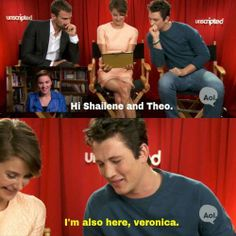 I'm also here, Veronica. Oh Miles I do love you