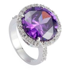 Iarlamin Sterling Silver Plated Rings Cubic Zirconia