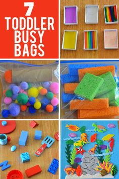 7 Busy Bag Ideas for Toddlers Simple to make and fun to play your toddler will love these busy bag activity ideas. The post 7 Busy Bag Ideas for Toddlers appeared first on Toddlers Diy. Toddler Busy Bags, Toddler Play, Toddler Learning, Baby Play, Toddler Crafts, Crafts For Kids, Toddler Games, Toddler Activity Bags, Infant Activities
