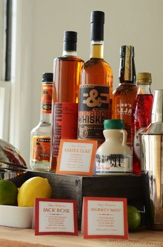 FREE Print-out recipes for a Self Serve Bar at your Thanksgiving feast!