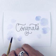 DIY wedding congratulations card tutorial with Tombow Wedding Congratulations Card, Wedding Crafts, Diy Wedding, Wedding Calligraphy, Craft Shop, Card Making Inspiration, Custom Cards, Diy Cards, Cards