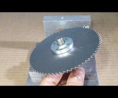 Homemade Mini Circular Table with Hand Drill Home Built Jig Saw Cutting Wood PCB
