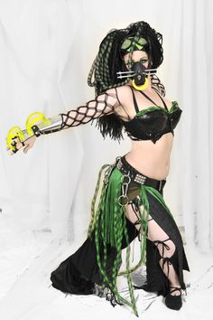 Original Cyber Goth Costume by SabrinaBellydancer.deviantart.com