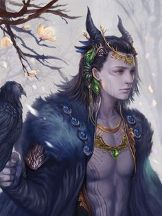 Loki (Norse): He is a son of the giant Laufey and the giantess Farbauti. He is regarded as one of Aesir, but is on occasion their enemy. He is connected with fire and magic, and can assume many different shapes (horse, falcon, fly). He is crafty and malicious, but is also heroic. Responsible for the death of Balder, the god of light. Is often called the Sly One, the Trickster, the Shape Changer, and the Sky Traveler.
